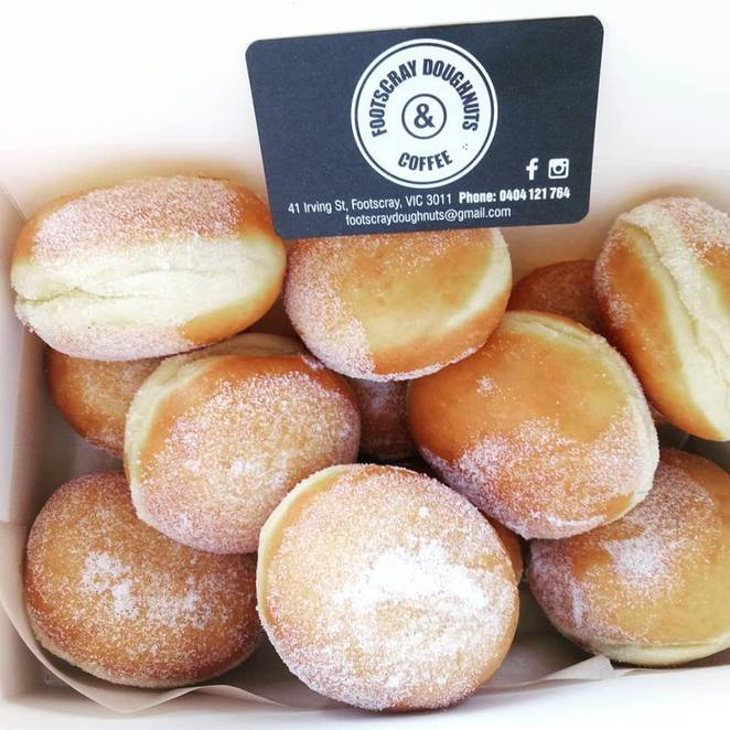 footscray doughnuts & coffee, cafe, footscray station cafe spot, doughnuts, afternoon tea, morning tea, R&R, hot chocolate doughnuts, hot jam doughnuts, footscray, fun things to do, food lover, coffee lovers, latte, vegan options, gluten free options, small cafe