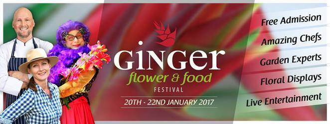 Ginger Flower and Food Festival, Yandina, 21st year, food, flowers, entertainment, FREE, ornamental gingers, heliconias, garden talks, lifestyle and foodie workshops, live entertainment, plants for sale, presenters, chefs, garden gurus, daily activities, celebrate all that is local to Sunshine Coast