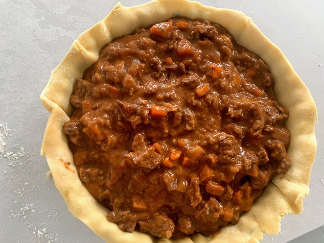 Beef and Onion Pie