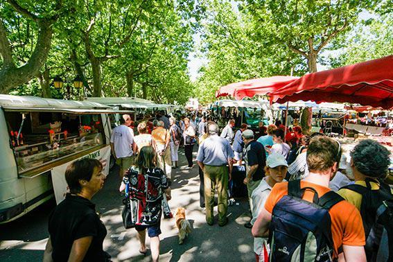Local Country Markets on Canal du Midi