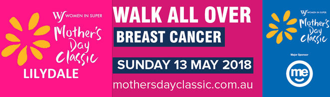 mother's day classic, lilydale, fun run, charity, community event, fun things to do, fundraiser, breast cancer awareness, health and fitness, breast cancer research, walk or run, donate, support in spirit, donations,