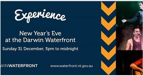 New Year's Eve celebration, 2017, Darwin, the Waterfront Darwin, free family event, fireworks
