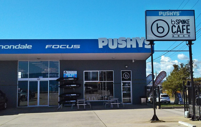 pushys, bspoke cafe, canberra, fyshwick, breakfast, lunch, coffee, cake, bunnings,