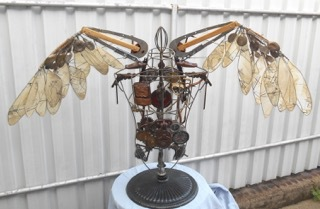 steampunk assemblage art Redcliffe exhibition