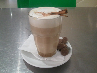 T bar's Chai Latte is a great option, no matter whether you choose the syrup or tea variety.
