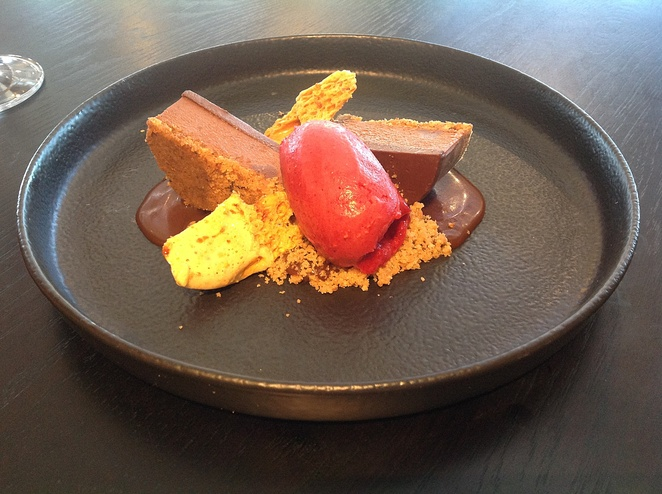 Textures of Vahrhona Chocolate, Wakefield's Restaurant, The Vicar, Dural
