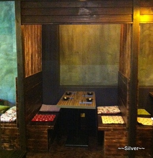 Traditional private dining booth