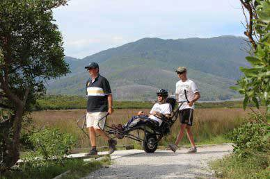 Parks Victoria's 'Trail Rider' all-terrain chair in use