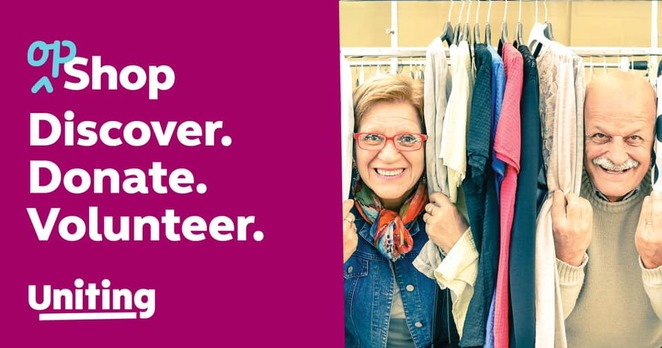 uniting op shops 2020, master dry cleaners, activities, donate winter warmers, doing it tough, clothing and furniture donations, charity, volunteer, reuse, recycle, preloved goods, upcycle, shop sustainably, giveaways