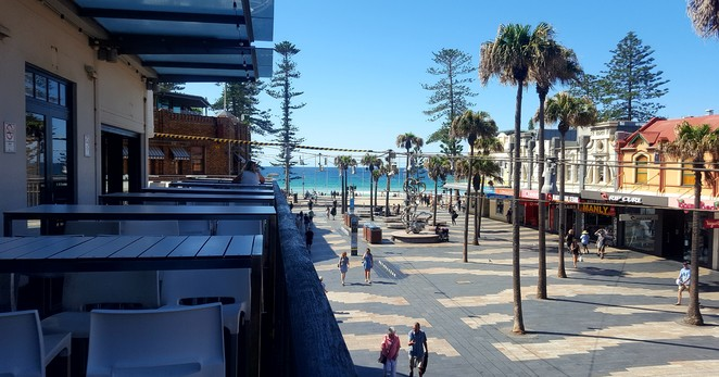 Views, alfresco, Manly, hotel, lunch