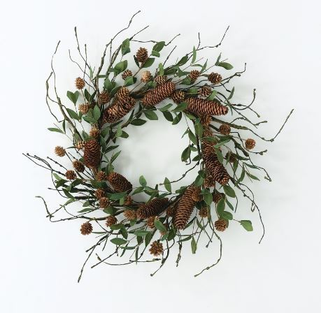 Wreath Making With a Difference, Christmas wreaths, natural objects, City of Holdfast Bay, Brighton Public Library