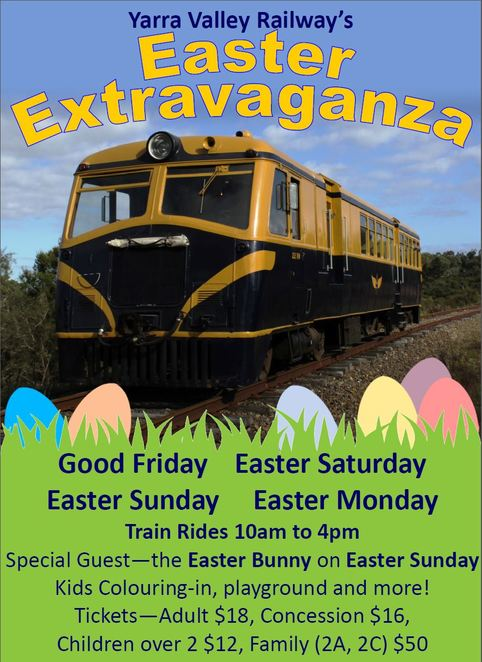 Yarra valley, railway, Easter, family, kids activities, train rides, vintage, Healesville, things to do, Day trips