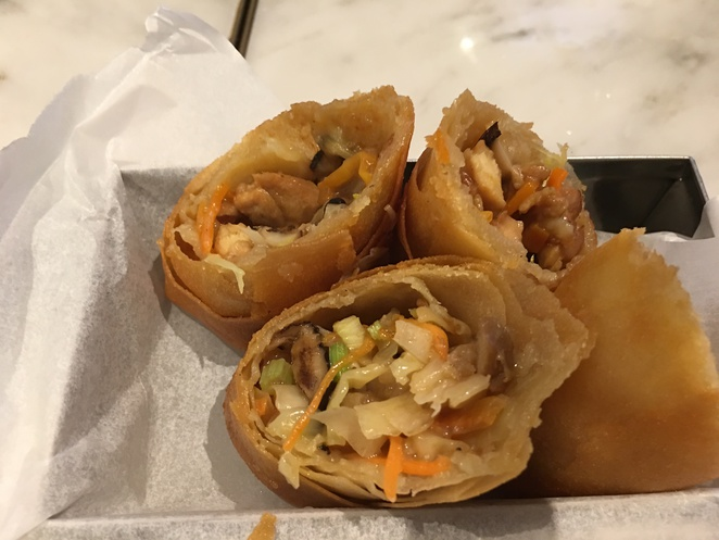yum cha sheung wan central Des Voeux Road nan fung chicken spring rolls