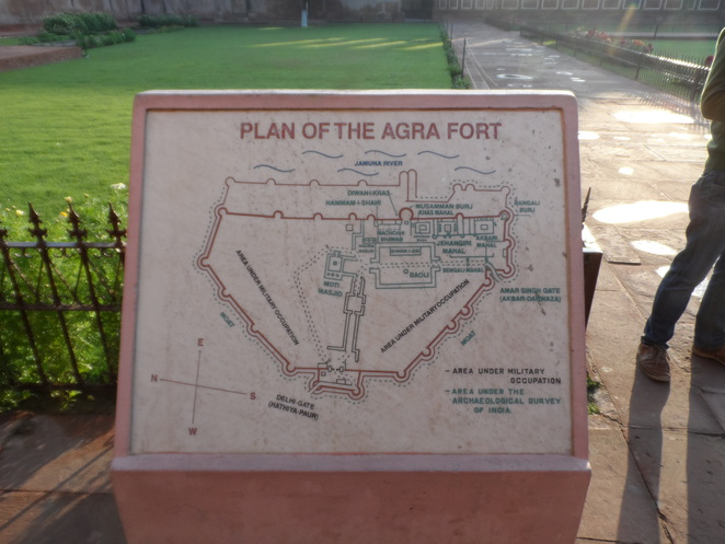 Agra Fort, Agra, Map of Agra Fort