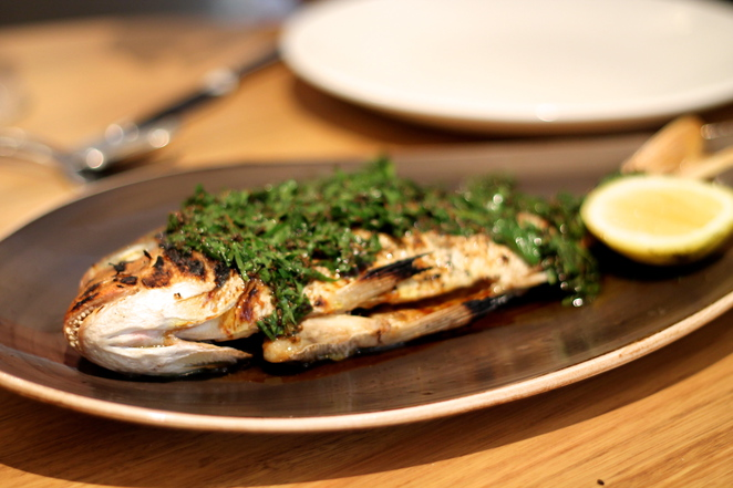 baby snapper, alpha lunch, alpha restaurant, alpha sydney, alpha fish