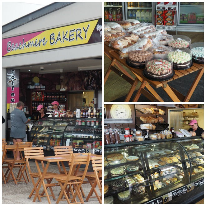 Beachmere Bakery, cakes, buns, bread, pies,