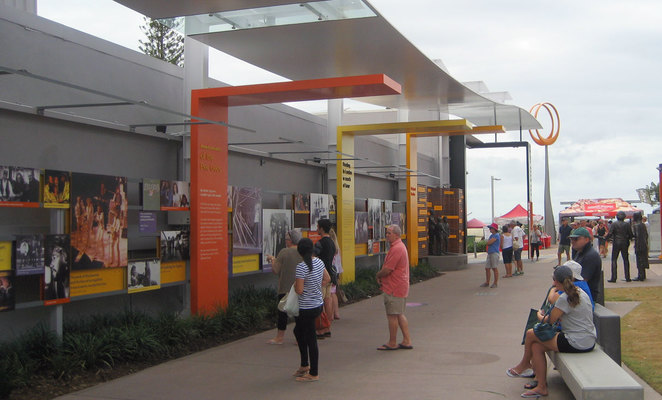 Bee Gee Way is a popular attraction at Redcliffe