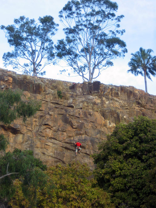 Climbing Kangaroo Point Cliffs