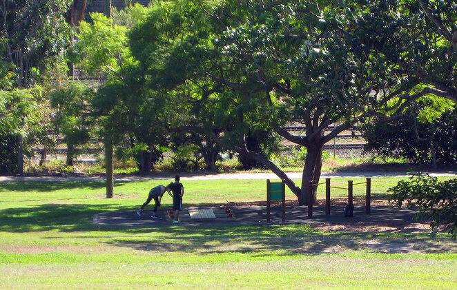 People all around Australia are heading out to parks to exercise