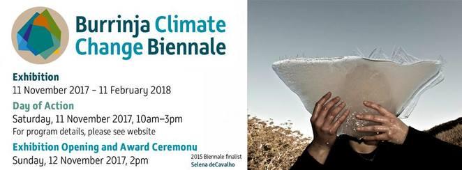 burrinja climage change biennale 2017, climate change on the fringes, acquisitive art exhibition, suzannah davies, rmit gallery, debbie symons, artist, david o'halloran, walker st gallery, burrinja gallery, climate change day of action, community event, fun things to do, environmental