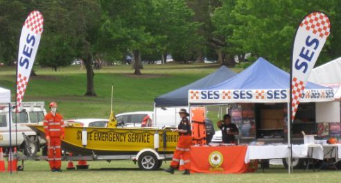 Emergency Services Day Toowoomba SES boat