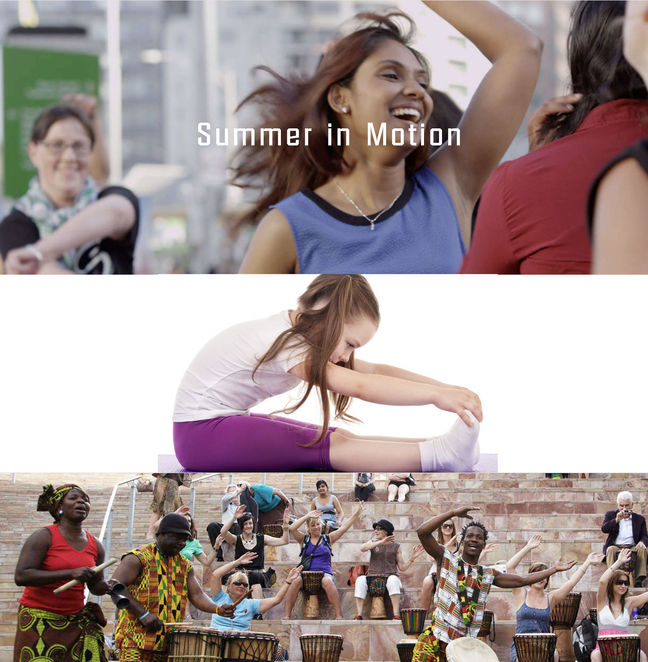 federation square, summer in motion, exercise, community event, fun things to do, fun for kids, relax, exercise, body awareness, yoga, zumba, latin dancing, belly dancing, african drumming, keep fit