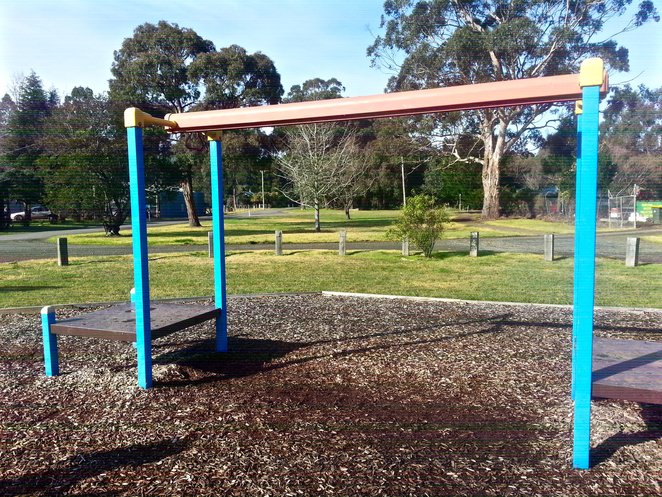 Gellibrand, Parks in Gellibrand, Toilets Gellibrand, Otways, Rex Norman Park, Rex Norman Playground, Gellibrand Playgrounds, Playgrounds near the otways, picnic spots, flying fox, metal flying fox, playground flying fox,