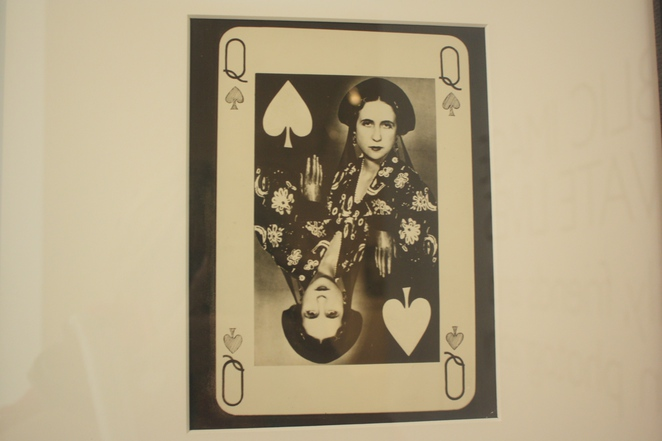 Lise Dehane as the queen of spades by Man Ray on display at Public Image, Private Lives Photographic Exhibition