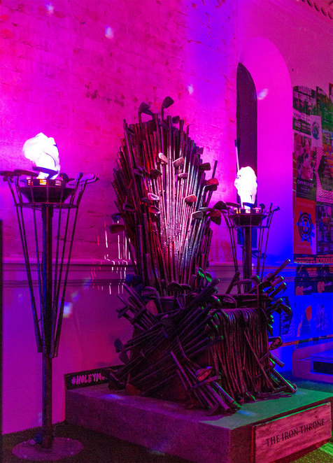 The Irons Throne is a popular spot for selfies