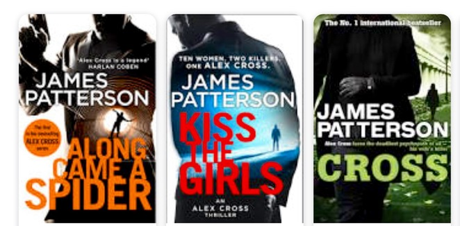 James Patterson, Alex cross series , novels