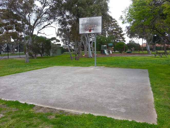 JF Field Playground, Marshall Reserve, Marshalltown road, Geelong, Basketball hoop
