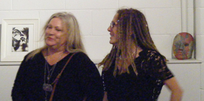 Jo Draper & Jane Dixon at their exhibition's opening