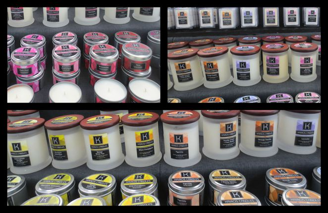 kairos candles, anthony ciardullo, shopping, scented soy wax candles, wholesale, retail, essence oils, natural, caribbean gardens market, market stall, stallholder, melts, candle holders, soy wax, reed diffusers