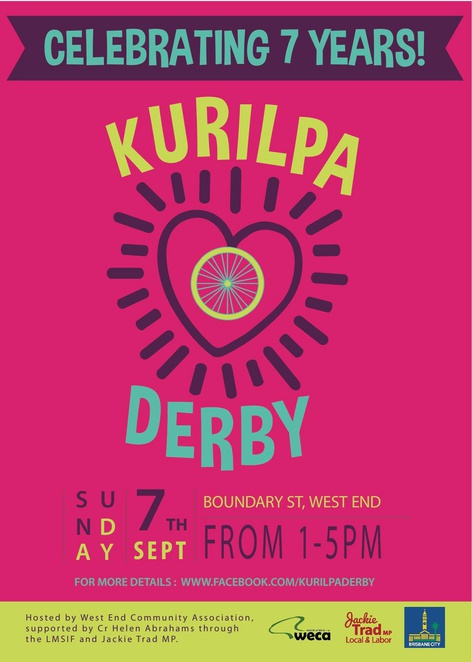 Kurilpa Derby, wheels, community event, novelty races, demonstrations, squid race, dancing, family event, free