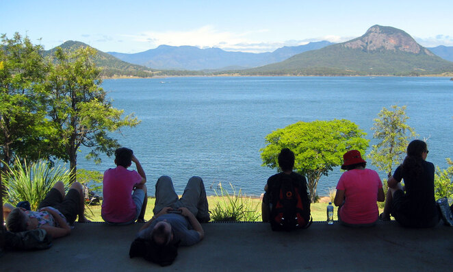 Chilling and enjoying the view at Lake Moogerah