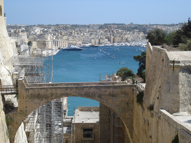 Looking Along the Grand Harbour Valletta