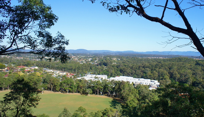 The view from the top of Milne Hill Reserve