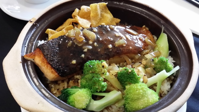 Ming Room, Salmon Clay Pot Rice, Adelaide