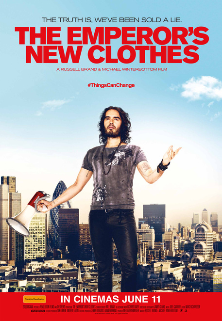 movie review, film review, the emporer's new clothes, russell brand, political, financial