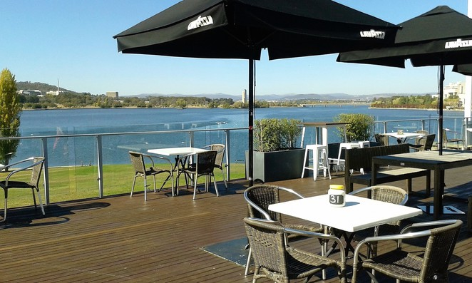 museum cafe, cafes with views over lake burley griffin, views, lake burley griffin, ACT, canberra,