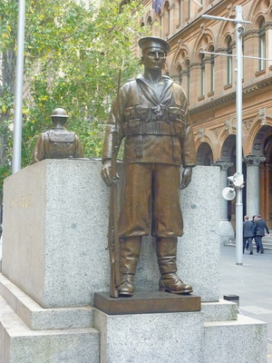 Soldiers at the Sydney Cenotaph