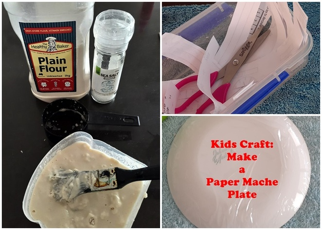 paper mache, plate, diy, make your own, wrapping paper, australia, painted, kids, rainy day, school holidays,
