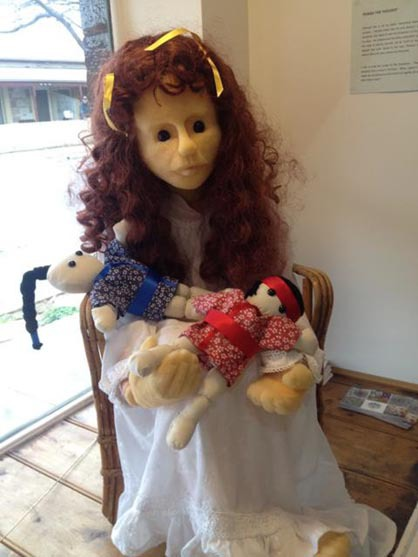 Perish the Thought, puppets, Genevieve, Mrs Harris, exhibitions