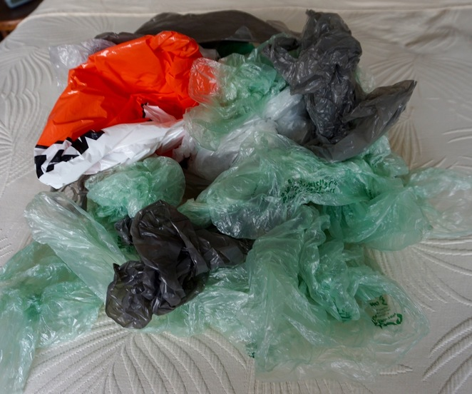 Plastic bags on the planet