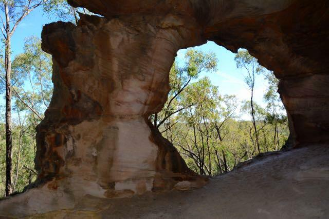 Looking outwards from the caves provides visitors with stunning views across the Pilliga Forest