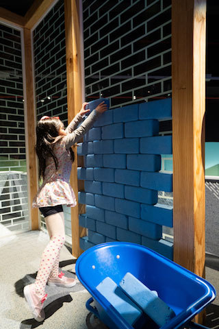 Scienceworks - building bricks play area