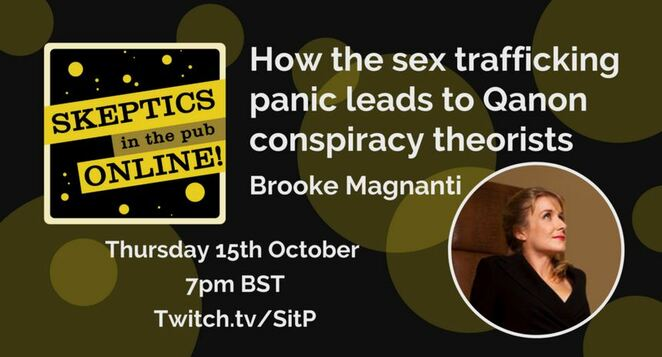 skeptic, skeptics, skeptics in the pub, science, qanon, conspiracy theories, anti sex trafficking, sex trafficking, UK skeptics, Brooke Magnanti, Belle de Jour