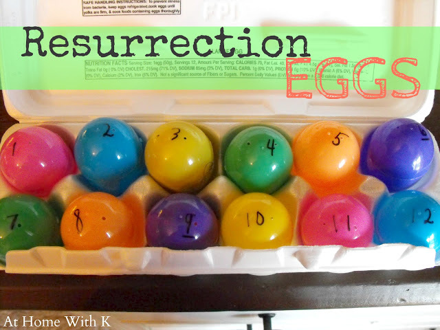 spiritual easter for kids, resurrection eggs