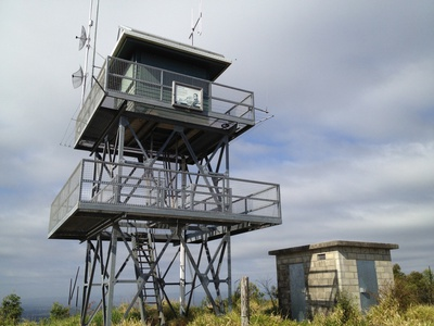 The fire tower on top of Mount Beerburrum