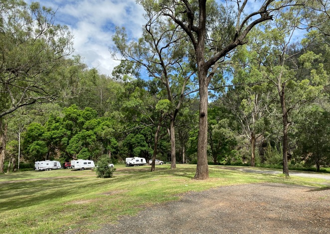 Large vehicles have no trouble accessing this campground